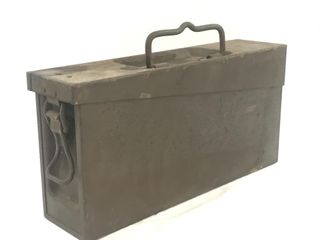 Small US Military Metal Ammo Box NICE!
