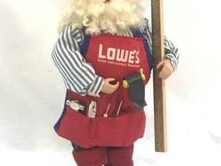 Santa Works at Lowes Statue 16in Tall