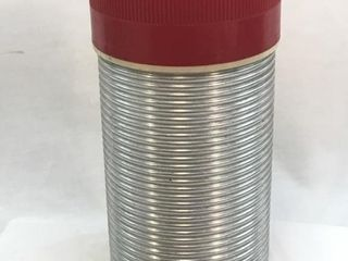Vintage Ribbed Stainless Steel Pint Size Thermos