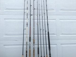 Lot of 9 Fishing Rods Shakespeare Triton