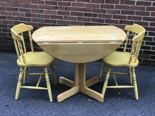3pc Dinette Set w/Dropleaf Table NICE!