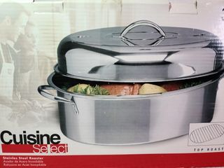Cuisine Select Stainless Steel Roaster NEW!