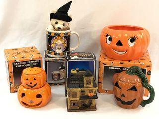 Halloween Pumpkin 5pc Miscellaneous Lot
