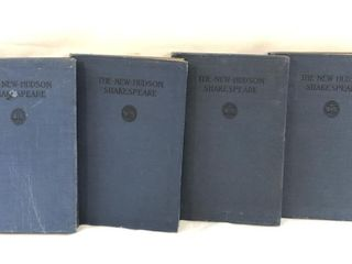 Lot of 4 Shakespeare Books Dated 1908, 1911, 1916