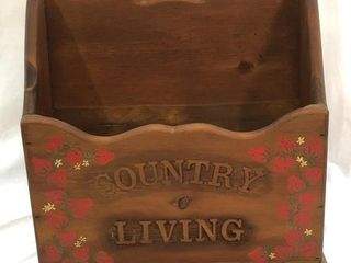 Vintage Country Living Solid Wood Magazine Rack