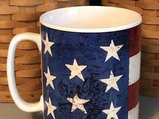 Sakura Oneida Stars and Stripes Patriotic Mug
