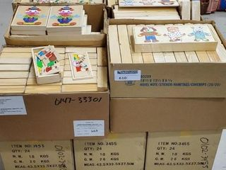 Asst. Wood Puzzles, 16+ cases as photographed.