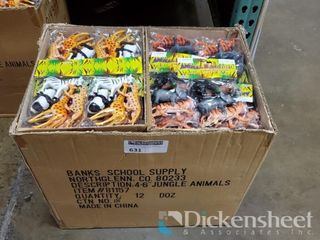 "3-6"" Wild Animal Set, 1 case of approx. 144 sets"