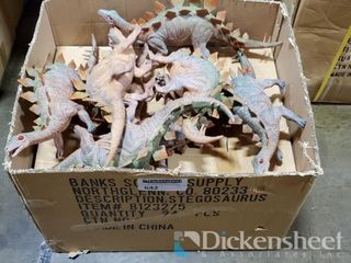 "19"" Dinosaurs, 1 case as photographed. One bid"