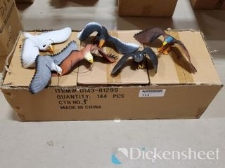 "11-15"" Bird assortment, 1 box of approx. 72"