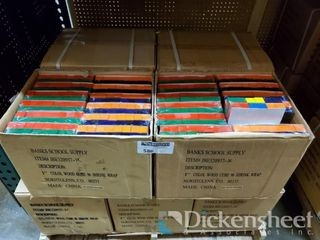 "1"" Asst. Color Wood Blocks, Approx 12 cases as"
