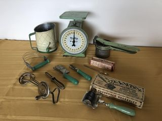 Collectible WayRite Scale, Sifter, ricer, kitchen