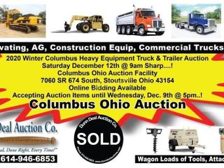 2020 Winter Columbus Heavy Equipment Truck & Trailer Auction