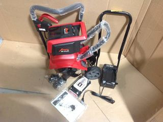 Mantis 58 Volt 12 in. Cordless Electric Tiller/Cultivator with 3-Position Wheels in good condition