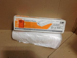 HDX 12 ft. x 400 ft. 0.31 mil High Density Painters Plastic Sheeting in good condition