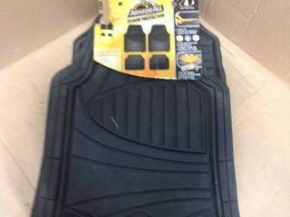 Armor All 4-Piece Black Rubber Interior Floor Mat in good condition