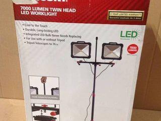 Husky 7000-Lumen Multi-Directional LED Tripod Work Light in good condition