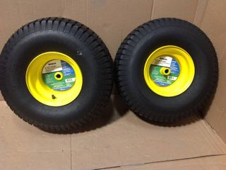 Arnold 20 in. x 8 in. Rear Wheel Assembly with Turf Saver Tread for John Deere Riding Lawn Mowers in good condition