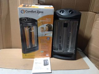 Comfort Zone 1500-Watt Electric Quartz Infrared Radiant Tower Heater in good condition