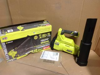 RYOBI 110 MPH 410 CFM 18-Volt ONE+ Brushless Cordless Variable-Speed Lithium-Ion Jet Fan Blower (Tool-Only) in good condition
