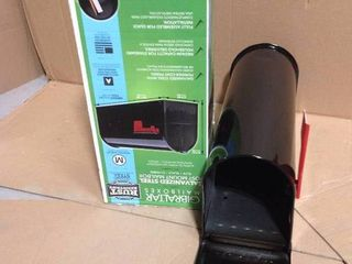 Gibraltar Mailboxes Elite Medium, Steel, Post Mount Mailbox, Black in good condition