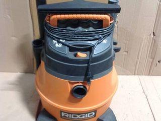 RIDGID 6 Gal. 3.5-Peak HP NXT Wet/Dry Shop in good condition