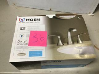 Darcy 8 in. Widespread 2-Handle High-Arc Bathroom Faucet in Spot Resist Brushed Nickel