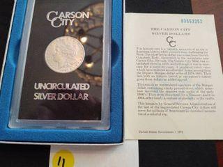 1883-CC GSA Uncirculated Morgan Dollar with Original Box and COA
