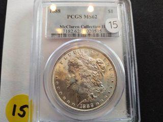 1888 Morgan Dollar PCGS MS62