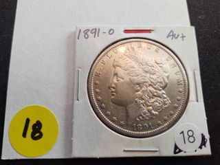 1891-O Morgan Dollar Labeled AU+ when purchased
