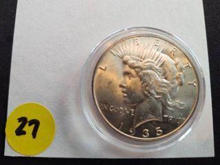 1935 BU Peace Dollar
