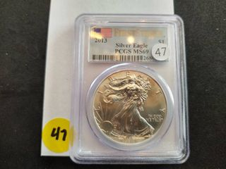 2013 First Strike American Silver Eagle PCGS MS 69