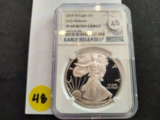 2019-W Early Releases American Silver Eagle Proof NGC PF69 Ultra Cameo
