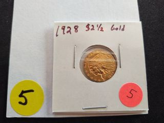 1928 $2.50 Gold Indian Coin
