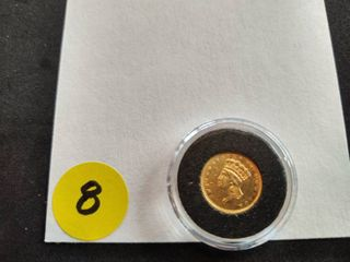 1856 Type 3 $1.00 Gold Coin Labeled AU50 when purchased