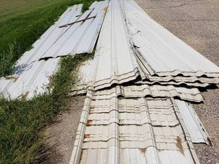 Lot of Used Metal Sheeting