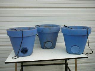 3 Light Up Floor Pots