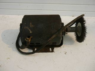 Motor With Wire Brush 1/3 HP