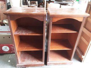 Pair Of Adjustable Shelf Cabinets 25x19x48