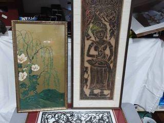 3-Pieces Of Asian Art: