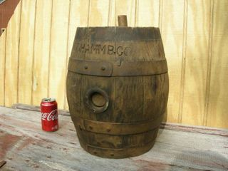 Amazing! Antique Hamm's Wooden Barrel/Keg