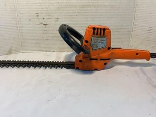 Black & Decker shrub and hedge trimmer, tested,