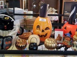 Shelf of Halloween Items