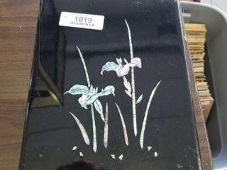 Pearl Inlay Stationary Box - Vintage