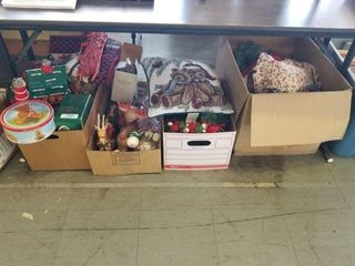 4 Boxes of Christmas Decorations