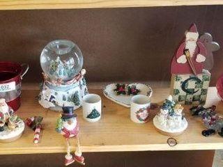 All Christmas Items on Shelf