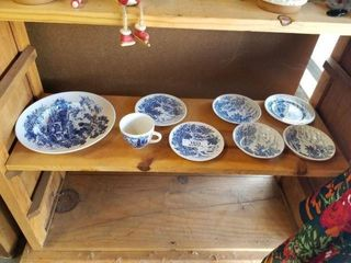 Wedgewood England Blue & White Dishes