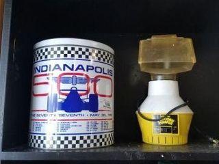 Indy 500 Tin & Vintage Popcorn Popper
