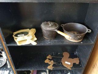 Cast Iron Pans & Vanity Set