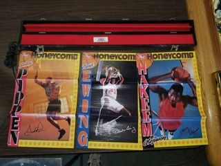 Basketball Posters & Leather Pool Stick Case